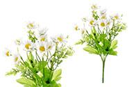 Heřmánek, puget, barva bílá. Květina umělá.