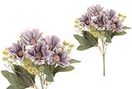Kokardy, puget, barva lila. Květina umělá.