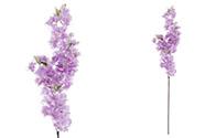 Třešňové květy, barva fialová. Květina umělá.