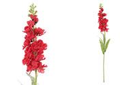 Ostrožka, barva červená. Květina umělá.