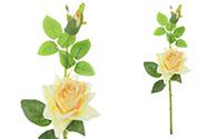 Růže s poupětem, barva žlutá. Květina umělá.