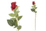 Růže, barva červená. Květina umělá.