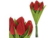 Puget tulipánů, 7 květů, barva červená.