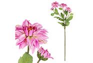 Jiřinka, barva lila. Květina umělá.