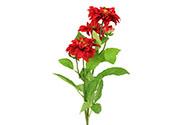 Jiřinka, barva červená. Květina umělá.