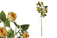 Růže, barva žlutá. Květina umělá.