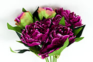 Pivoňky, puget, barva světle růžové. Květina umělá.
