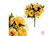 Růže, puget, brava žlutá. Květina umělá.