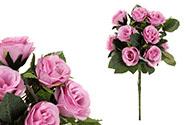 Růže, puget, barva růžová. Květina umělá.