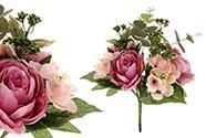 Puget květin v odstínech lila. Květina umělá.