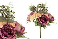 Puget květin v odstínech fialové. Květina umělá.