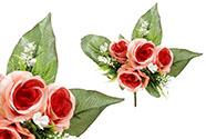 Růže, puget, barva tmavě růžová. Květina umělá.