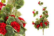 Muškát,  barva červená. Květina umělá.