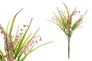 Konvalinky, puget, barva fialová. Květina umělá plastová