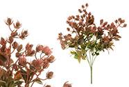 Květina umělá plastová. Barva růžovo-fialová