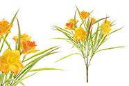 Narcis, barva  oranžovo-šedá. Květina umělá.