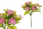 Květina umělá plastová. Barva fialová. Cena za 1ks(ve svazku 12ks).