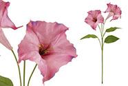 Durman,  barva růžová. Květina umělá.