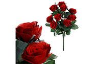 Růže, puget, barva červená. Květina umělá.