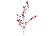 Magnolie poupě, barva tmavě růžová ojíněná. Květina umělá.