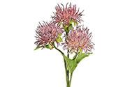Chryzantéma, barva purpurová ojíněná. Květina umělá.