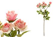 Růže, barva růžová. Květina umělá.