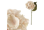 Hortenzie, barva krémová. Květina umělá.