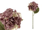 Hortenzie, barva fialová. Květina umělá.