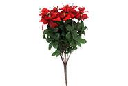 Azalky, puget, barva červená. Květina umělá.