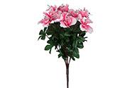 Azalky, puget, barva růžová. Květina umělá.