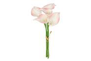 Kala, 5kusů ve svazku , barva bílo-růžová. Květina umělá.