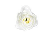 Růže, barva bílá, Květina umělá vazbová. Cena za balení 12 kusů