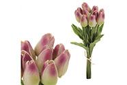 Mini tulipán, barva zeleno-fialová. Materiál pěna. Cena za 1 kus, ve svazku je 1