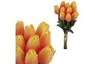 Mini tulipán, barva oranžovo-žlutá. Materiál pěna. Cena za 1 kus, ve svazku je 1