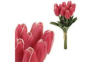 Mini tulipán, barva růžová. Materiál pěna. Cena za 1 kus, ve svazku je 10 kusů.