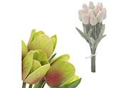 Mini tulipán, barva fialovo-zelená. Materiál pěna. Cena za 1 kus, ve svazku je 1
