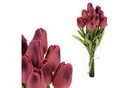 Mini tulipán, barva fialová. Materiál pěna. Cena za 1 kus, ve svazku je 10 kusů,