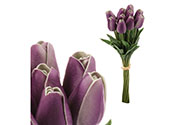 Mini tulipán, barva tmavě fialová. Materiál pěna. Cena za 1 kus, ve svazku je 10