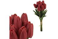 Mini tulipán, barva červená. Materiál pěna. Cena za 1 kus, ve svazku je 10 kusů.