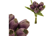 Tulipán, barva fialová. Materiál pěna. Cena za 1 kus, ve svazku je 6 kusů.