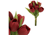 Tulipán, barva červená. Materiál pěna. Cena za 1 kus, ve svazku je 6 kusů.