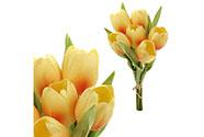 Tulipán, barva žlutá. Materiál pěna. Cena za 1 kus, ve svazku je 6 kusů.