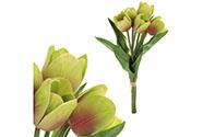 Mini tulipán, barva fialovo-zelená. Materiál pěna. Cena za 1 kus, ve svazku je 5