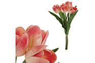 Mini tulipán, barva krémovo-červená. Materiál pěna. Cena za 1 kus, ve svazku je