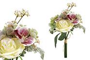 Puget umělých květin, mix horzenzie, vlčího máku a růže.