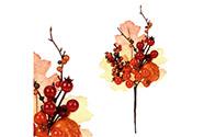 Větev s podzimními oranžovými přízdobami. Cena za 1ks.
