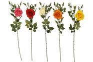 Růže, mix barev. Květina umělá.
