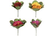 Petrklíč, mix barev (červená, růžová, žlutá, fialová)  Květina umělá.