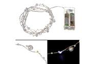 Řetěz s LED světýlky na baterie  barva studená bílá
