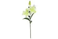Lilie 3 květy, barva bílo-zelená. Květina umělá.